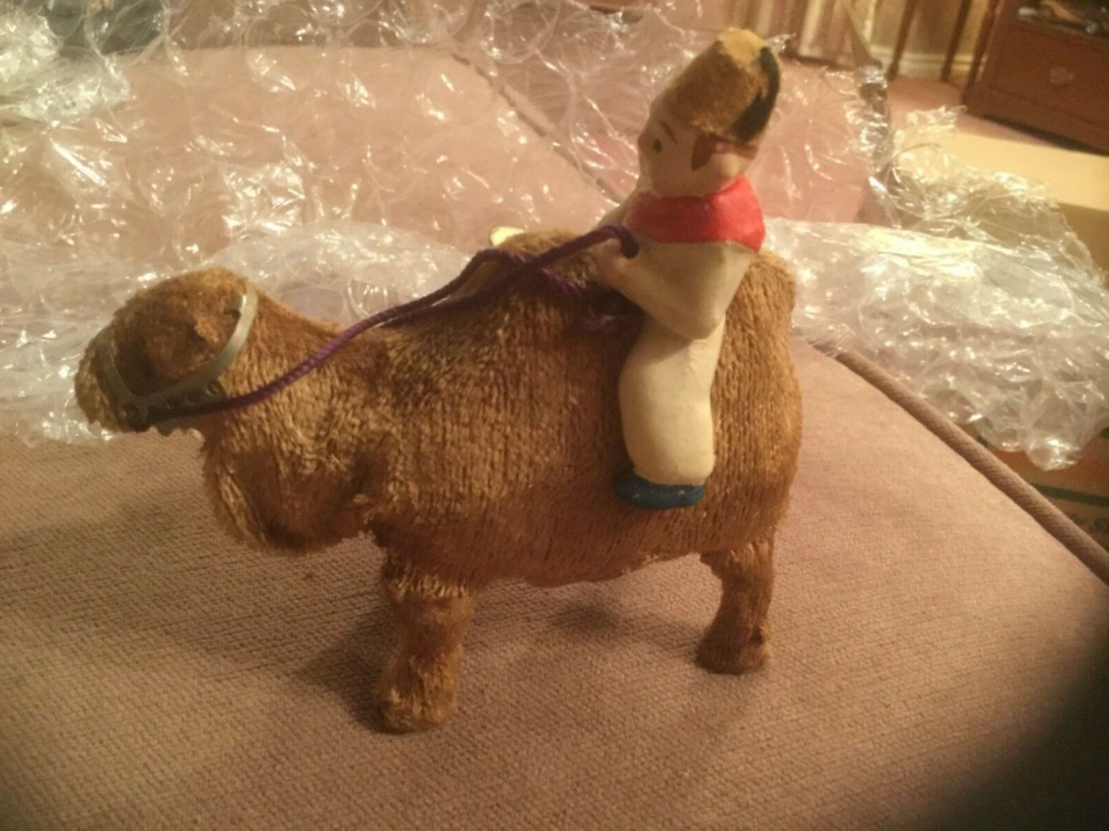 Vintage 1960s Wind Up Walking Camel & Rider Japan KSK  THE SHIP OF THE DESERT