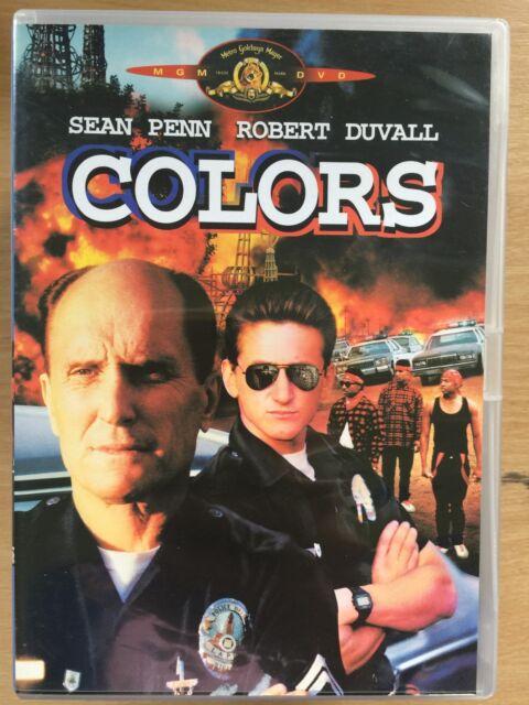 Sean Penn Robert Duvall COLORS Colours ~ LAPD Police Vs Gangs Thriller UK DVD