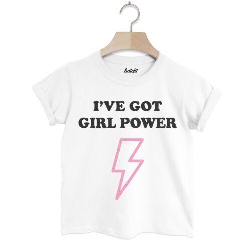 LOTTO 1 HO Girl Power Children/'s Fashion Slogan T-shirt per ragazze SUPER