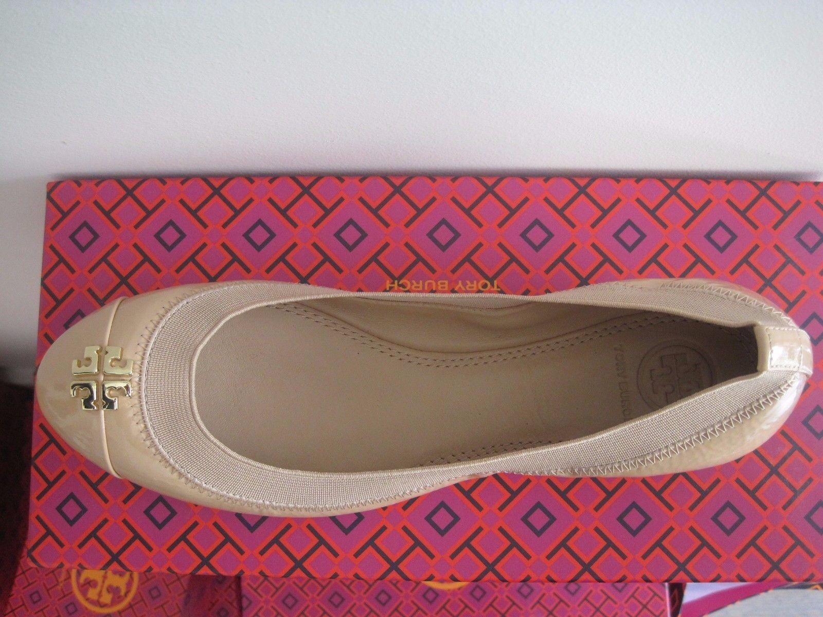 BRAND NEW  IN THE THE THE  BOX TORY BURCH JOLIE  BALLET FLAT  SIZE  9 4f6718