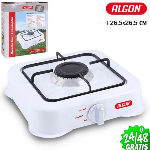 Küchen Tragbar Gaskocher 1 Kochplatte Brenner Camping Stahl Edelstahl Emailliert