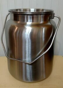 2 Gallon Heavy Duty Stainless Steel Milk Jug with Tight ...
