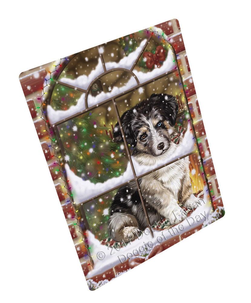 Come Home For Christmas Australian Shepherds Dog Woven Throw Sherpa Blanket T240