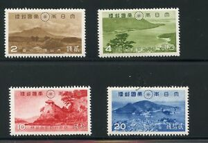 JAPAN-1939-PARK-SET-SCOTT-290-93-MINT-LIGHT-HINGED