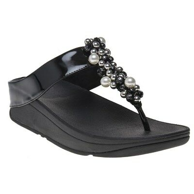 5009896eb76b2f FitFlop Womens Deco Toe Thong Sandals Black Size 8 for sale online ...