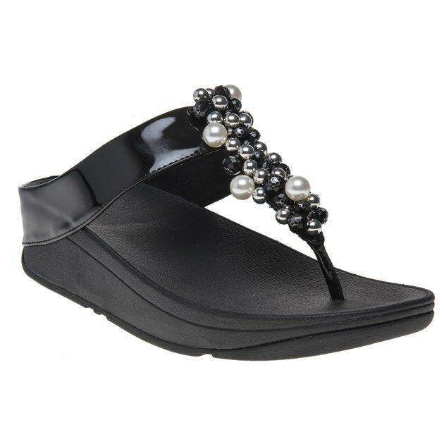 6a2e7a94f FitFlop Womens Deco Toe Thong Sandals Black Size 7 for sale online ...