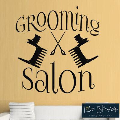 Dog Wall Decals Grooming Salon Decal Vinyl Sticker Pet Shop Home Decor Art MN480