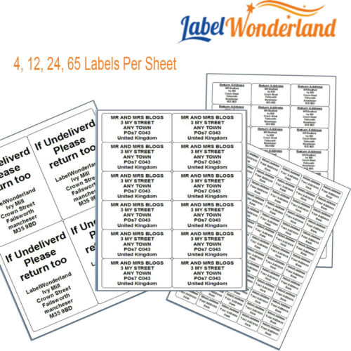 Ship all sizes * Custom return Labels Any Text Stickers Self Adhesive Mail