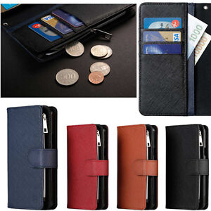 the latest 822f0 0f16d Details about Caro Zipper Wallet Case(Genuine Leather) for Samsung Galaxy  A5 2017/ A7 A5 2016