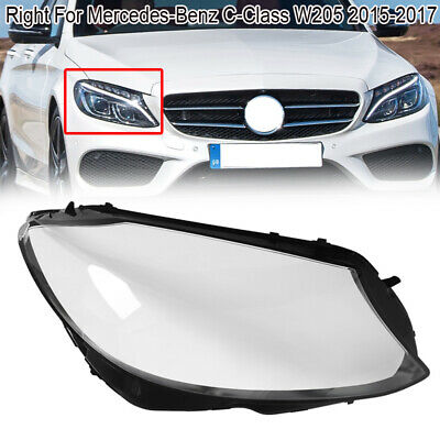 LR Front Headlight Lamp Lens Cover For Mercedes-Benz W205 C180 C200 C260L 15-17