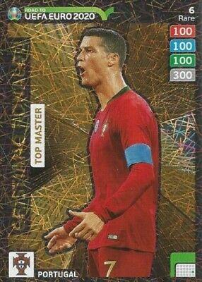 Panini ADRENALYN XL Camino A Euro 2020 Cristiano Ronaldo Top Master raro no 6