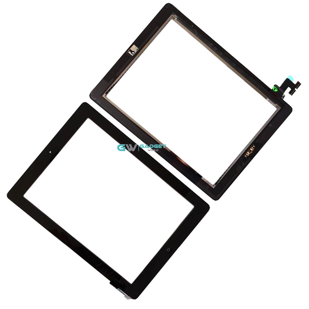 Per iPad 2 NERO Ricambio Schermo Touch Digitizer vetro con Pulsante Home