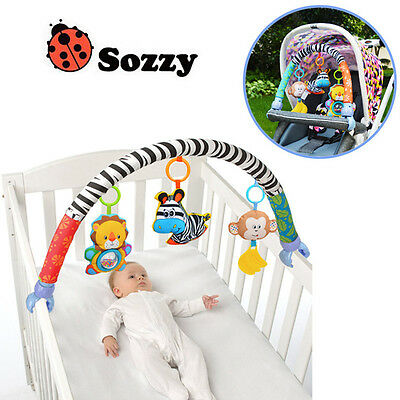 0-12M Baby Crib Toy Stroller Rattles Seat Take Along Travel Arch Toys for Pram