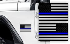 Police THIN BLUE LINE AMERICAN FLAGS Stickers Jeep Wrangler Flag Decals JK TJ XJ