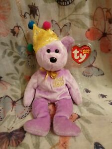 TY BEANIE BABY BEAR JOKESTER - APRIL FOOL - INTERNET EXCLUSIVE - RETIRED.  44ad*