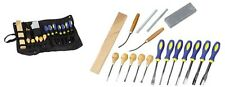 18pc PROFESSIONAL Wood Carving Chisels Set Kit w/ Case Files Carbide Stricker