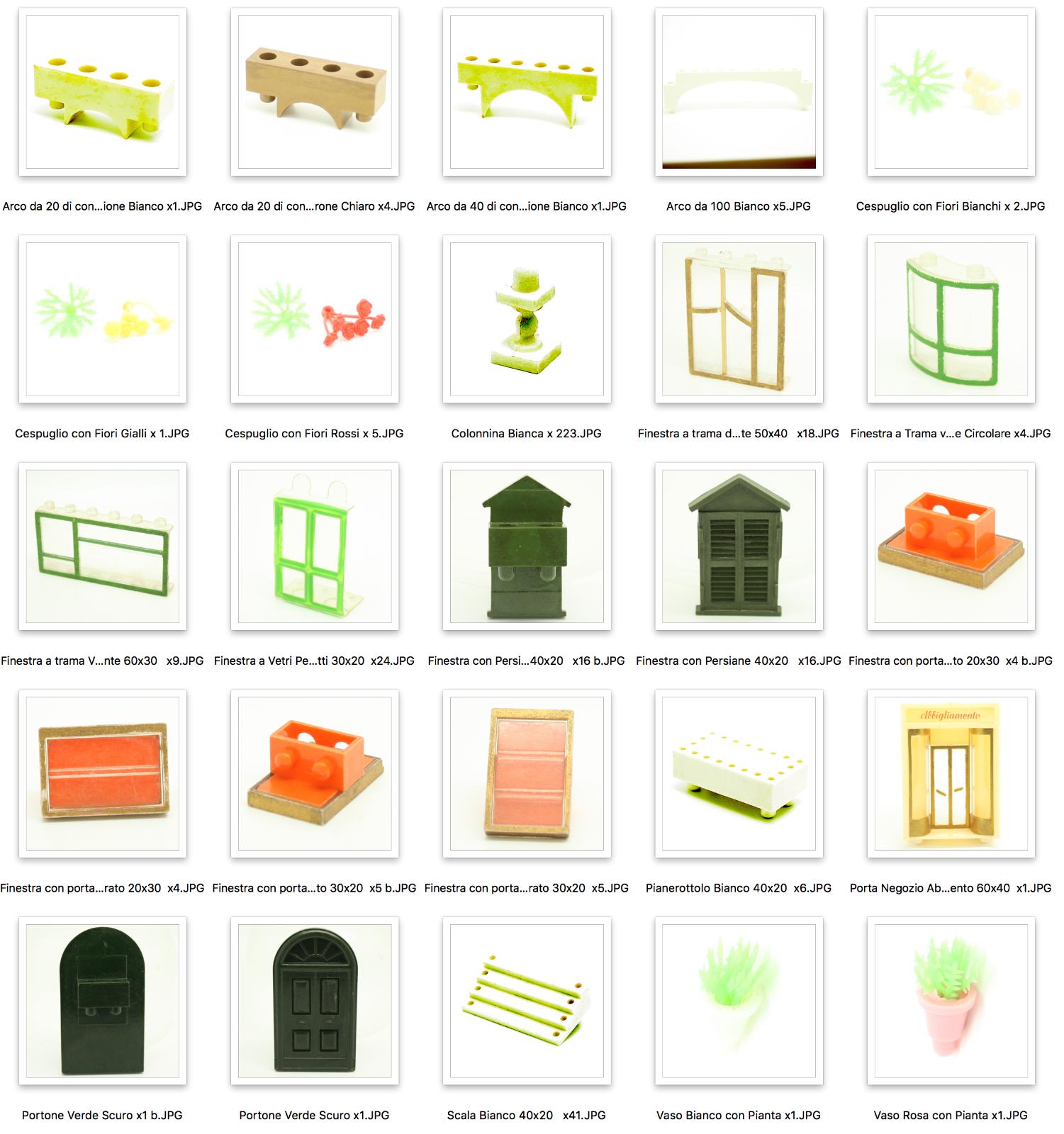 Costruzioni InPerFor Pre Lego in Bachelite anni 50 50 50 - Pezzi singoli Decorazioni 9b5690