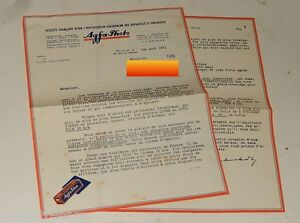 LETTRE-1931-AGFA-Photo-Importation-d-039-ALLEMAGNE-Pellicules-Isochromes-Film-16