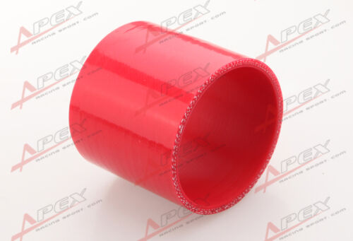 """3 Ply 1.5/"""" inch Straight Hose 70mm Turbo Silicone Hose Coupler Pipe Red"""