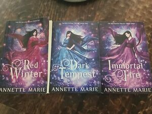 The Red Winter Trilogy Vol. 1-3 By Annette Marie Dark Owl Fantasy