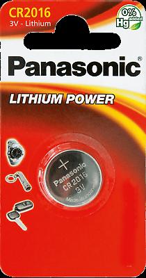 1x Panasonic Knopfzelle Lithium Cr2016 1er Blister 3v Cr-2016el/1b