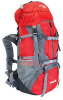 Adventurer Travel Camping Hiking Rucksack Backpack Back Pack Bag Red 55 Litre 55
