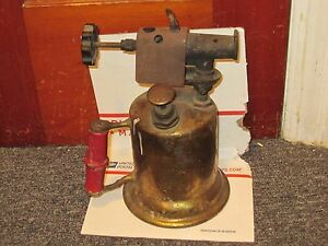 Vintage-Antique-Turner-Brass-Soder-Torch-Gas-Blow-Torch