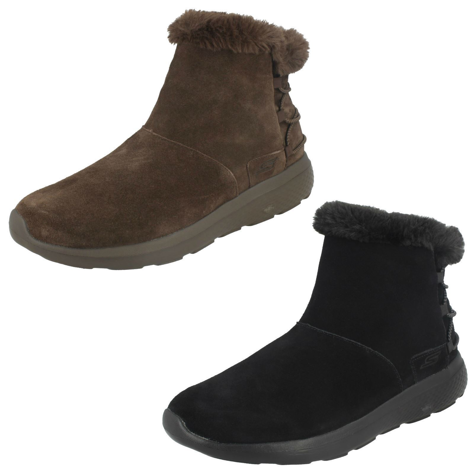 Ladies Skechers 14615 Hibernate Casual Suede Ankle Boots