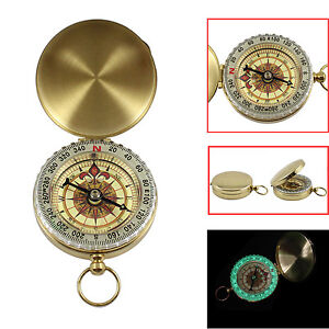 Portable-Compass-Brass-Keychain-Watch-Pocket-Outdoor-Camping-Hiking-Navigation