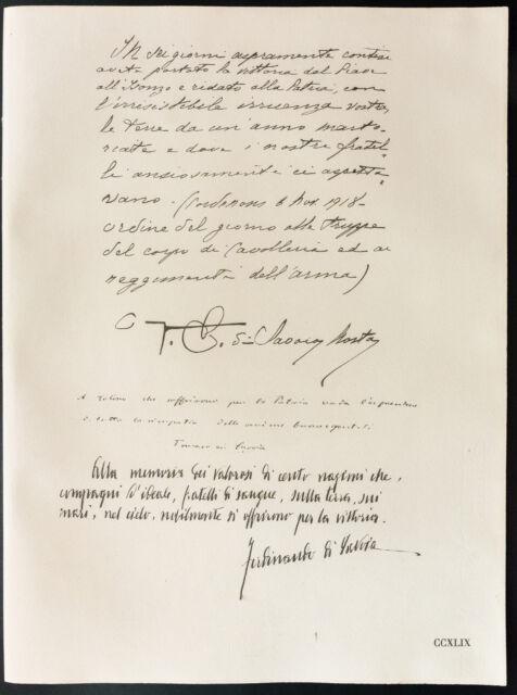 1926 - Litografía el Condado de Turin, Thomas de Saboya, Ferdinand de Saboya