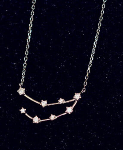 Sternenkonstellation Sternbild Steinbock Sterling Silber 925 Anhänger mit Kette