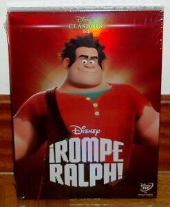 ROMPE-RALPH-DVD-DISNEY-CLASICO-N-54-NUEVO-PRECINTADO-FUNDA-DE-CARTON-SIN-ABRIR