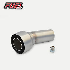 "Fuel Exhaust Removable Baffle DB Killer for 2"" / 50.8mm (51mm) I.D Angled Outlet"