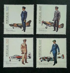 SJ-Portugal-Military-Uniforms-Air-Force-1984-Aviation-Aircraft-stamp-MNH