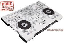 EPSILON QUAD-MIX 4-Deck MIDI USB DJ Controller+Mixer+Soundcard+Software - White