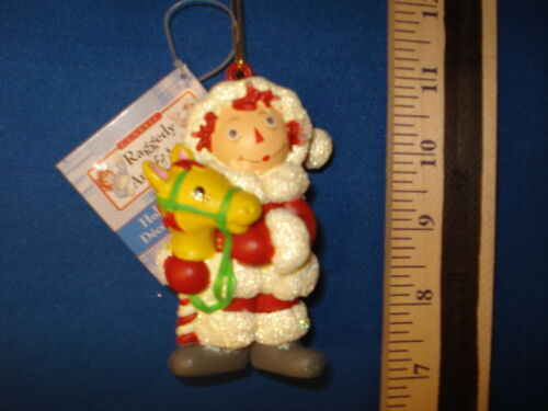 Raggedy Ann Ornament in Snowsuit with Stick Horse RA0064 138