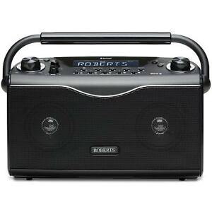 Roberts Eco4 BT Compact Portable DAB/DAB+ FM Radio with Bluetooth in Black