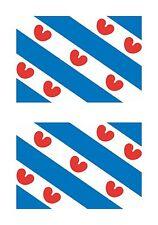 Friesland Netherlands Flag 2x Stickers Tablet Car Truck Locker Door