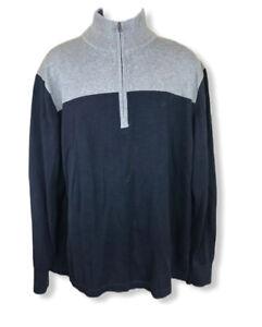 Nautica-Men-s-Half-Zip-sweatshirt-sz-XL-Blue-red-gray-Logo