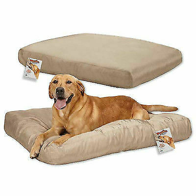 Chew Resistant Tough Dog Beds Durable Strong Polyester Reinforced Ripstop Tan