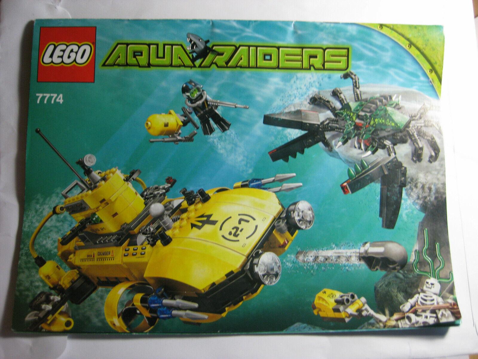 Lego Sets 7771, 7772, 7772, 7772, 7774 Crab Lobster Angler Aqua Raiders Aquazone 8d32e1
