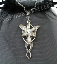 Premium Silver Arwen EVENSTAR Necklace Lord of the Rings Pendant Hobbit LOTR Bag