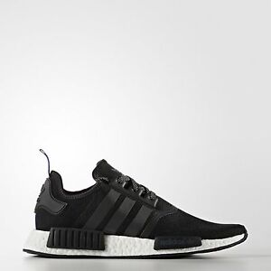 new product 6d079 e03df Details about ADIDAS NMD R1 ORIGINALS MEN'S RUNNING SHOES BLACK/CORE  WHITE/BLUE S31515