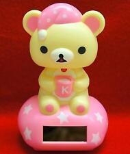 Nohohon Flip Flap Solar Powered Good Night Rilakkuma Teddy Bear  #A - Pink Color
