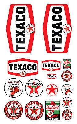 1:87 HO scale model Texaco gasoline station gas signs