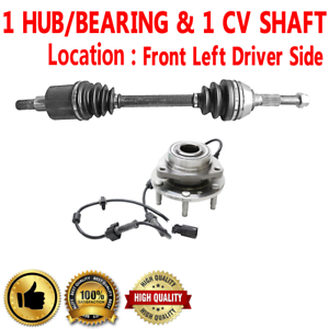 Details about Front Right CV Axle Shafts + Wheel Hub Bearing Assembly For  TRAILBLAZER