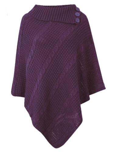 New Ladies Women Poncho Shawl Top Cardigan Winter Jacket Hoodie Scarves Cap