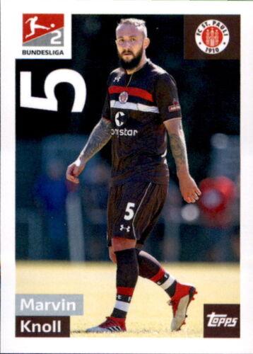 TOPPS Bundesliga 2018//2019 Marvin Knoll Sticker 292