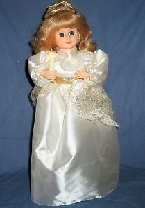 18-034-Animated-Musical-Lighted-GIRL-DOLL-Christmas-Figurine-Display-White-Angel