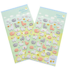 2 Sheets Cute Cartoon Alpaca Sheep Stickers DIY Scrapbooking Card Album Diary
